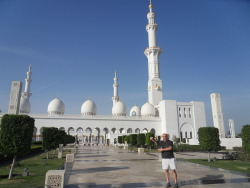 My gal and I Te'oing at the Sheikh Zayed Grand Mosque.  I was luckily able to fool the guards and circumvent the very strict no male contact with women rule!!!