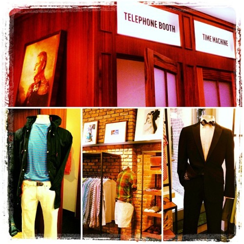 Bill Murray, Time Machine & tuxes @ the new Bonobos Guide Shop on Crosby, which opens next week.   (at Bonobos Guideshop Crosby)