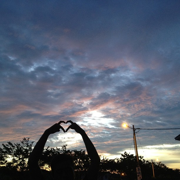 Love underneath the sky.