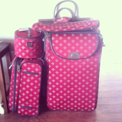 my new #luggage is too cute to not share! we will be heading to #savannah in a lil over a week to get married!