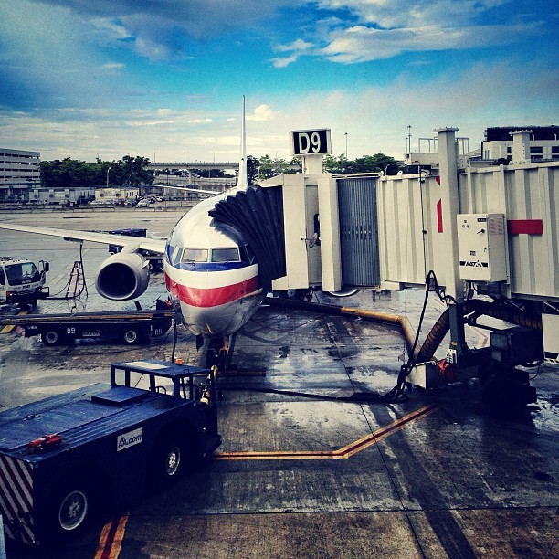 Leaving from gate D9 today… #mia #miami #americanairlines #flyaa