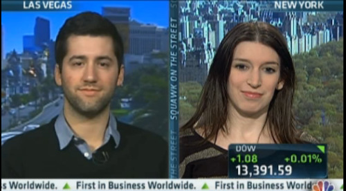 ellishamburger:  Was on CNBC this morning talking Facebook!