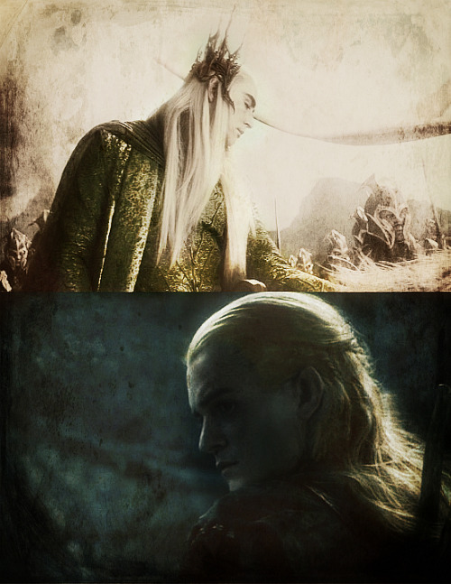 Mae govannen, Legolas Thranduilion.'Welcome Legolas, son of Thranduil.'