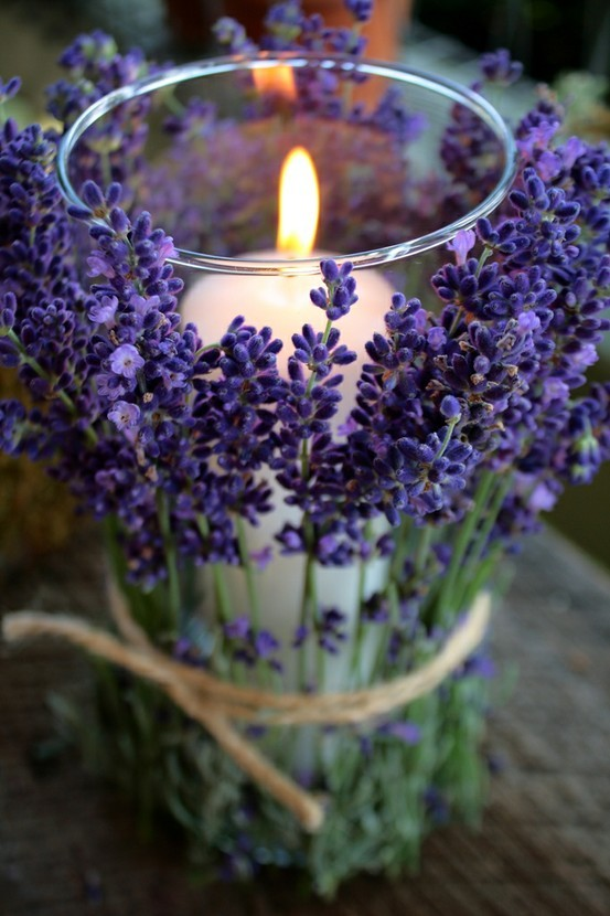 peacecouldlastforeverandaday:  Lavender wrapped candlehttp://boutique-de-la-mer.blogspot.com/2012/02/lavender-wrapped-candles.html?m=1