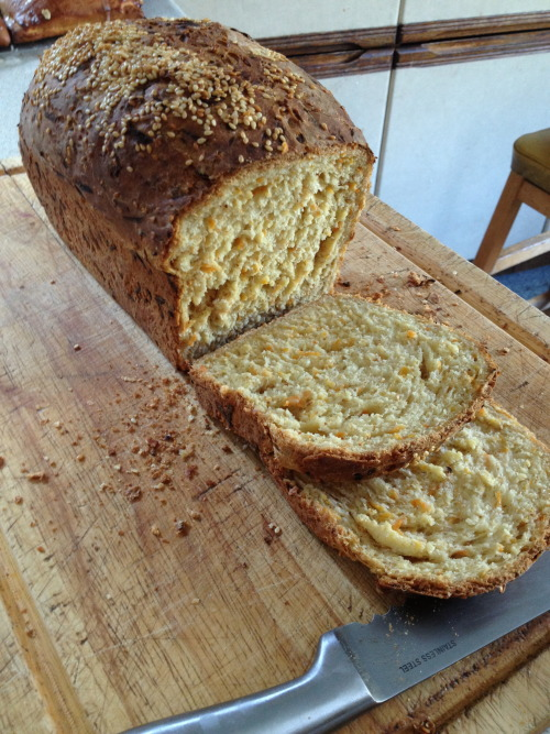 April 2013- Beautiful carrot and sesame seed loaf, one of my proudest moments!