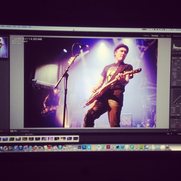Late night photo editing of tonight's Gaslight Anthem show…