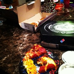 This is my Christmas Dinner. You're welcome. #dominos #deepdish #biggirlhungry (at The Hectic House)