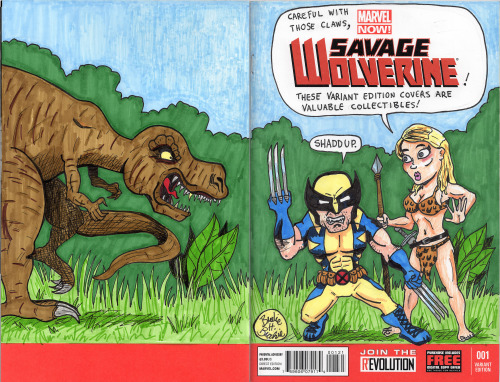 My own Savage Wolverine variant sketch cover. Link to it on the eBay.
