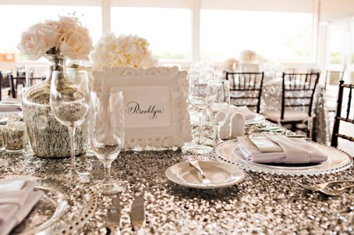 glitter table cloth