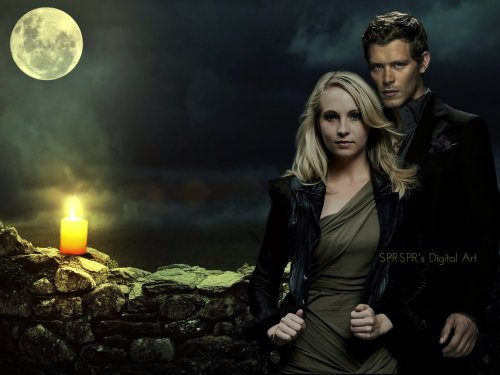 nikita-swervin:   Klaus and Carolineby ~SPRSPRsDigitalArt Fan Art / Wallpaper / Movies & TV©2013 ~SPRSPRsDigitalArt