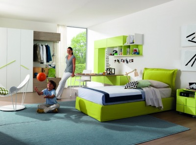 Z234 | Kids' bedroom by Zalf. http://bit.ly/WwCQwO Suspended design and top quality characterize modern Accessible homes.