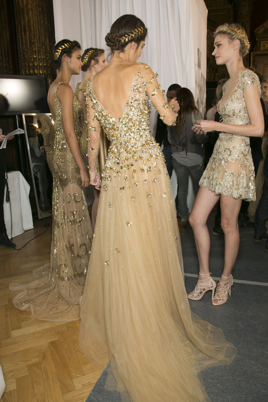 kreepybetty:  girlannachronism:  Zuhair Murad spring 2013 couture backstage  no ethnic diversity