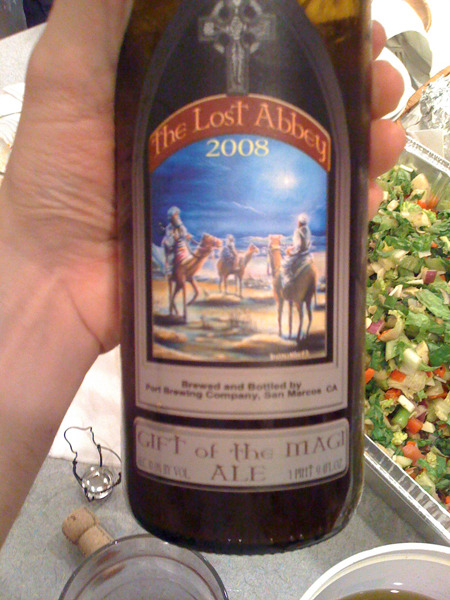 Drinking A Lost Abbey Beer