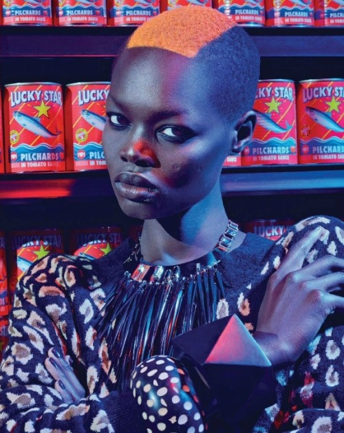 divalocity:    Aluad Deng Anei for Marie Claire South Africa May 2014.  Photo: Ross Garrett  Styling: Sharon Becker     *