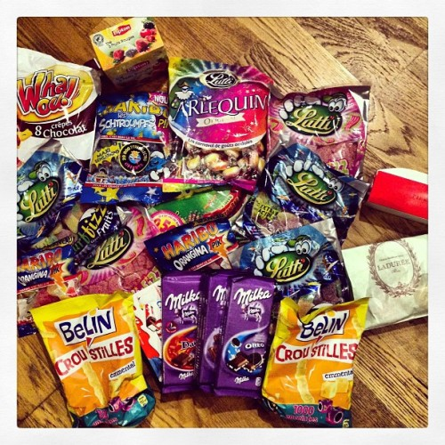 I think I'm bringing back enough junk food….. #candy #junkfood #europeancandy #milka #sour #laduree #pierreherme #lutti #love