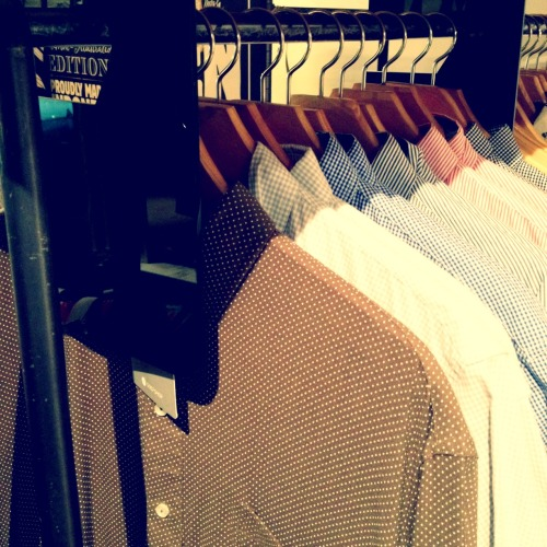 Our men's shirts at The Goods Dept. - Pondok Indah Mall II (Jakarta)