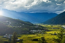 Paro Valley of Bhutan