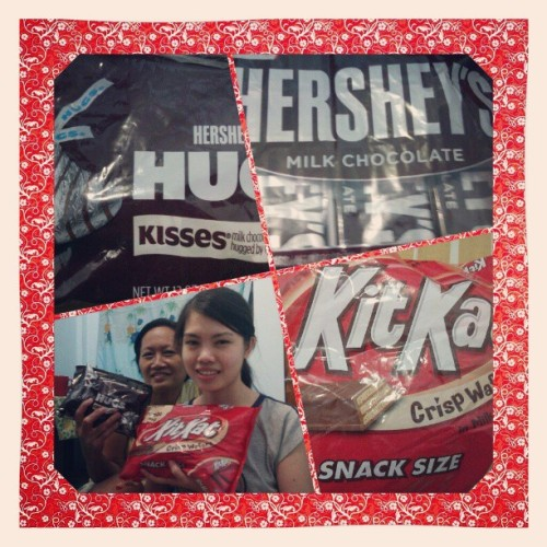 Thank you po sa shookoleyts!!!!<3 #favorites #thankful #happy  #chocolates #kitkat #hersheys