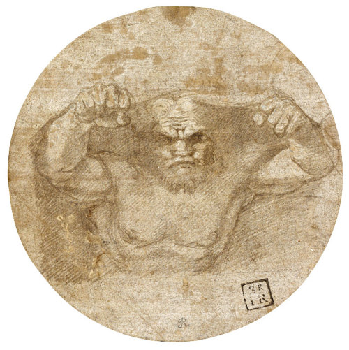 Raphael (Urbino 1483–1520 Rome) Male Figure Symbolizing an Earthquake, 1515–16 The Morgan Library