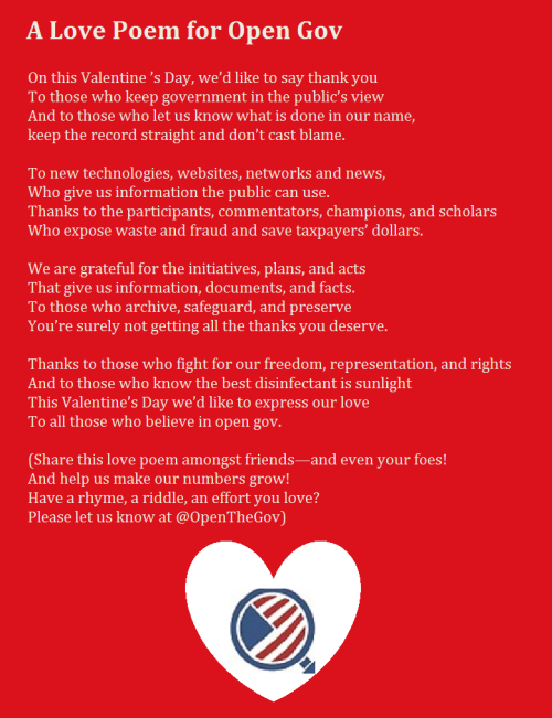 A Love Poem For Open Government