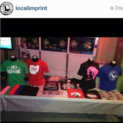 We set up a @LocaLimprint merch booth for the @Mr_Mike_Jones show tonight.