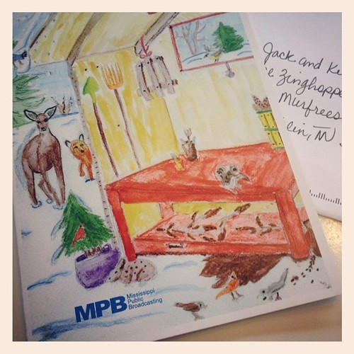 We got such an ADORABLE card from out friends at MS Public Broadcasting! Thanks @MPBOnline :) #PBS #love