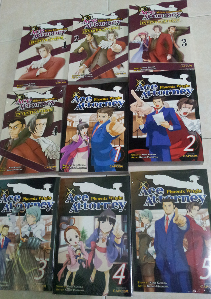 Did you know I'm a big fan of the Ace Attorney series? Well now you do. Got these from my last trip to Kinokuniya. I should really had my name on their blacklist or something. No one in their right mind should spend so much in one receipt for a bunch of mangas. And I would have walked out of there with The Oatmeal's and AMoL if I hadn't remembered I just spend almost half a thousand MYR with these alone. Anyhow, if anyone's asking, they're worth the price. Many of the cases IMO deserves to be on the actual game. Clever mysteries, colorful characters, and the author didn't go overboard with the main characters. Maya is bubbly, Nick is Nick, and Miles is still as snobbish as he was in the game. The English translation is top quality, though have a bit of a misspelling here and there. In a nutshell, awesome read.