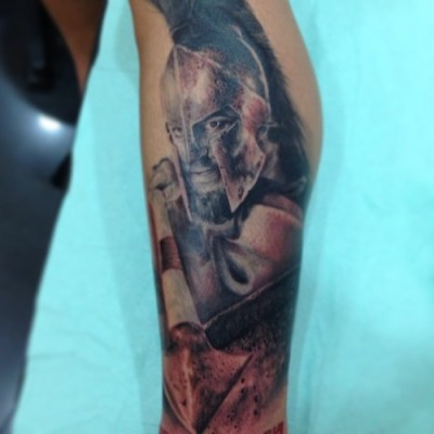 Leonidas by Jose Gonzalez at Ink-in Tattoo (Marbella, Spain) www.inkintattoo.com / www.facebook.com/inkintattoo / inkintattoo.tumblr.com