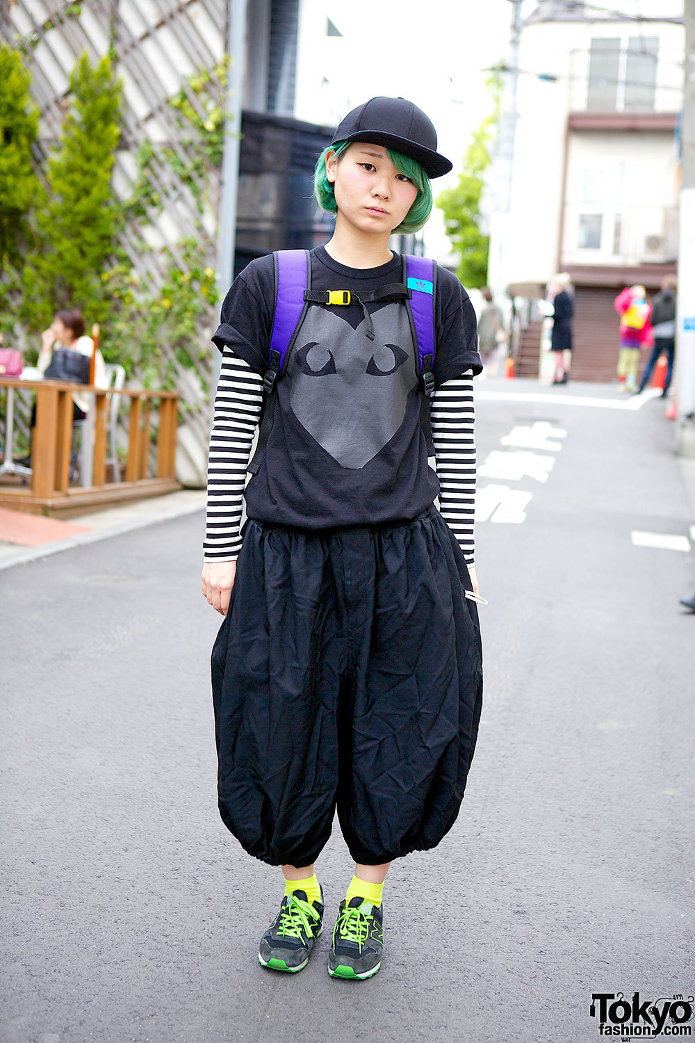 UVERworld fan in Harajuku w/ Comme des Garcons, Adidas & New Balance.