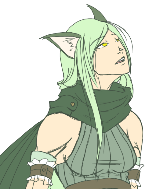test of krai's original colors on the newer drawing of her… i have a feeling i'm gonna be messing with these a little ;u;