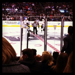 First hockey game ever!! Thx babe 😘 @jef_lin . Getting up close and personal w the LA kings. #kings #hockey
