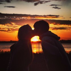 #kiss #sunset #alaska #ak #summer