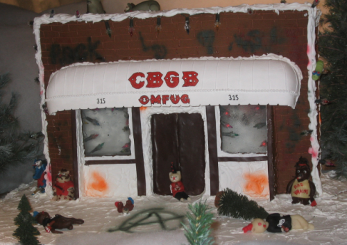 (via See a CBGB gingerbread house)