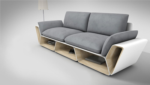 More Counter Space While Showcasing a Creative Furniture Design- Slot Sofa designer, designlike.com Whether we have a big house with plenty of space available or we live in a small apartment, nowadays many of us are looking for all kind of smart solutions in terms of furniture design, products that are multifunctional and space-saving, incorpora…