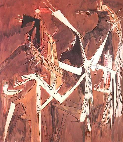 surrealappeal:  Wilfredo Lam, We Are Waiting, 1958.