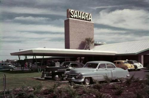 The Sahara in Las Vegas in its much better days before the owners let it go downhill like a fat-era Elvis.