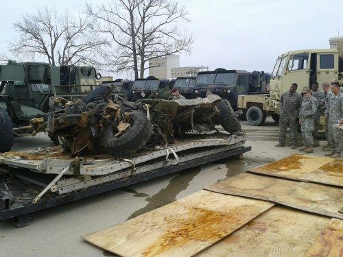 Apparently this is what happens when you drop a Humvee from an airplane and the chute doesn't open.