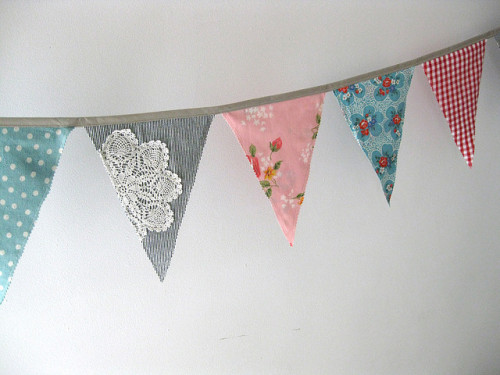 ohddaughter:  doily flag garland by sparklecandace on Flickr.