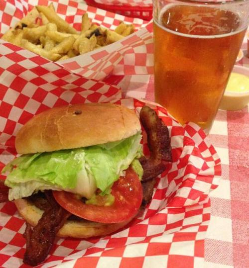 @antonioalive Bacon guac burger, fries, racer 5