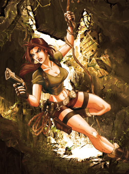 Lara Croft by wandolina Via: superheroeschanne