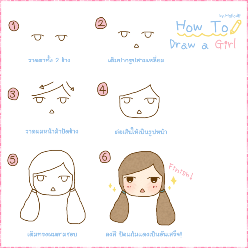 How to draw a girl in 6 steps :) follow my instagram » meilodii