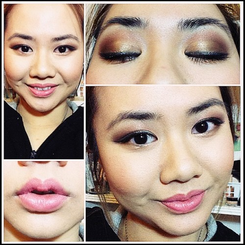 Jill Stuart Eyeshadow Palette: Captured Sardonyx  MAC Lipstick: Betty Bright Face: Too Faced The Bronzed and the Beautiful French Riviera palette Mascara: YSL Effet Faux Cils Liner: Bobbi Brown Twilight Night Gel Liner