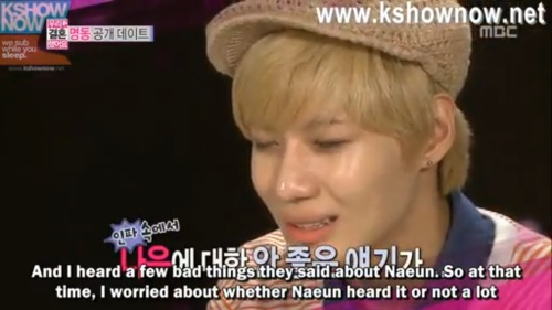 unknown-ji:  I feel bad for Taemin since he feels guilty about going to a public place… but for Naeun to receive the hate… it's terrible. The fans can be scary and heartless, they really never consider the idols feelings. It may never happen but, I hope soon enough idols can be respected for their personal lives.