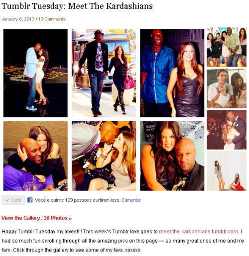 Khloe Kardashian saw my tumblr!! I'm so happy!! Thank you so much, koko!!