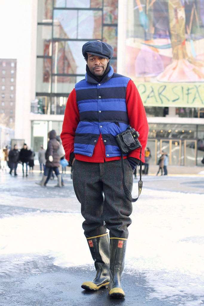 Karl Guerre at NYFW this season. Check out the full wintry #menswear mix, on *fruitpunch!