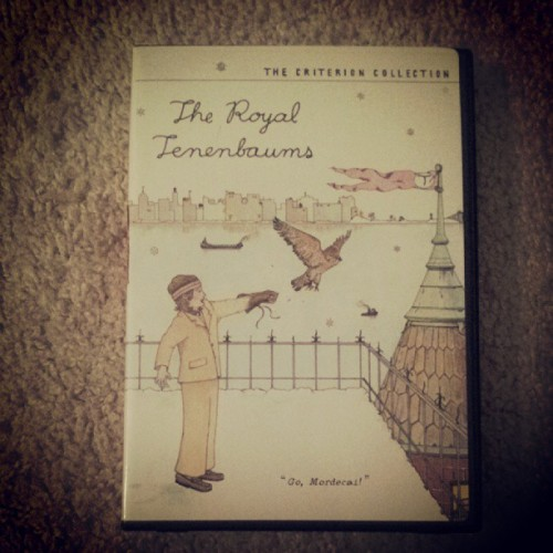 Movie night. #theroyaltenenbaums #wesanderson