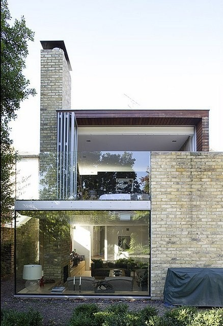 theblackworkshop:  brick and glass combination