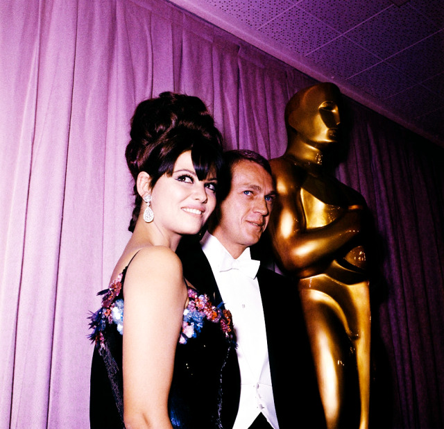Claudia Cardinale and Steve McQueen at the 37th Academy Awards ( 1964). #claudia cardinale#steve mcqueen#oldhollywoodedit#old hollywood#classichollywoodedit#classic hollywood#1960s#1960s hollywood#1960s actors#1960s men#1960s actresses#1960s women#1964#60s#edit#mine#*