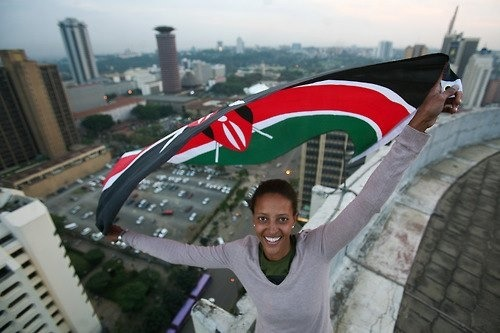 africathebeautiful:  Waving the Kenyan Flag