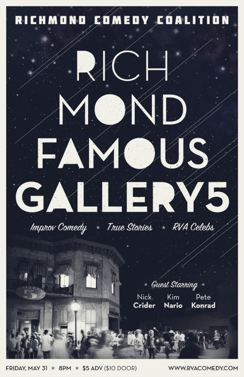 Don't miss our last show at Gallery5 on May 31st. Get your tix here: http://richmondfamousg5.eventbrite.com/